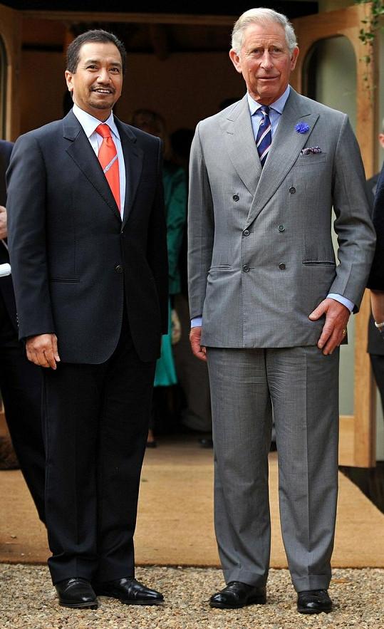 Princ Charles s malajským králem.