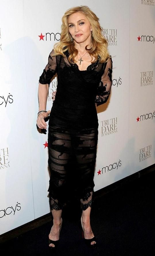 Madonna na současném snímku.