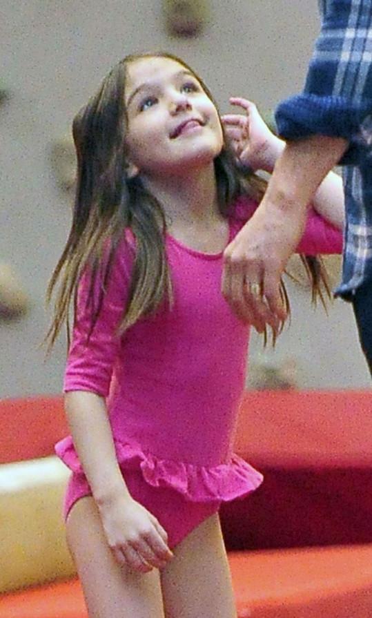 Malá Suri si evidetně chvíle strávené s tatínkem užívala.