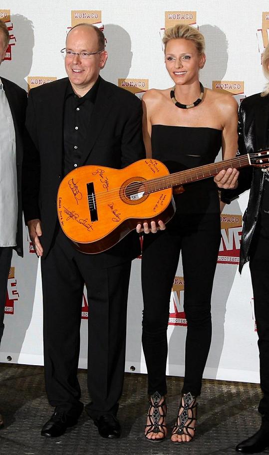Albert II. a Charlene Wittstock si byli poslechnout zkoušku koncertu Jeana Michela Jarreho.