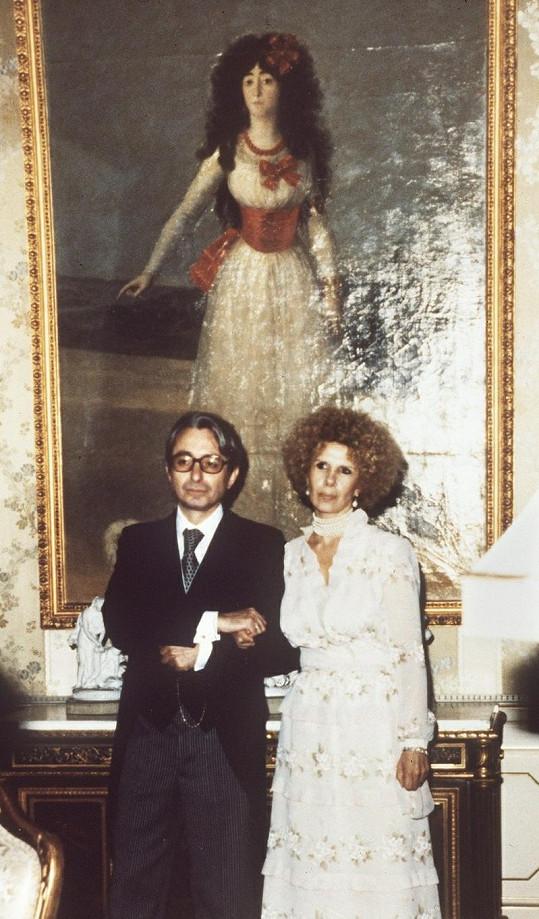 Vévodkyně z Alby s druhým manželem.