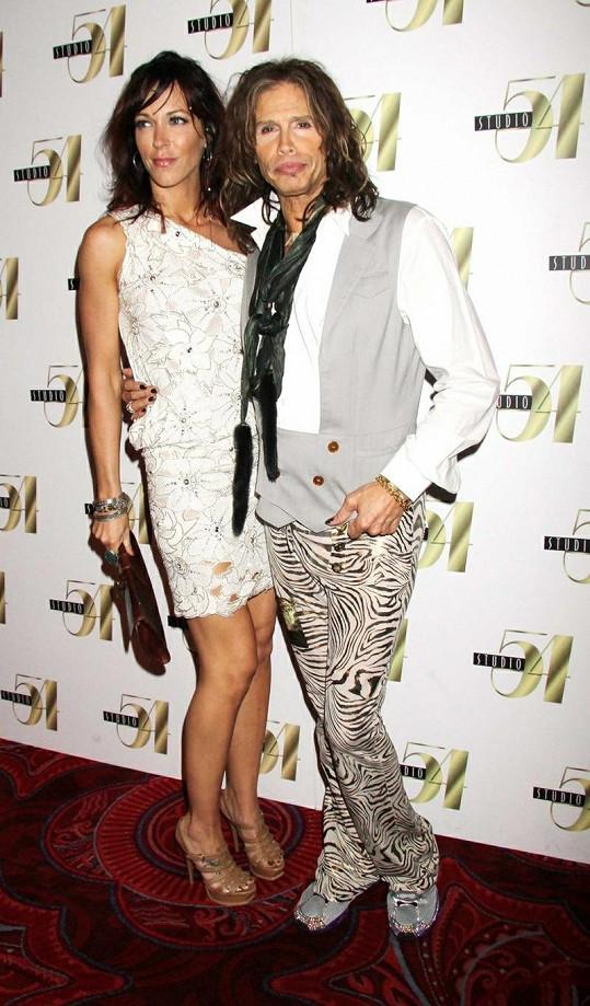 Steven Tyler s přítelkyní Erin Brady.