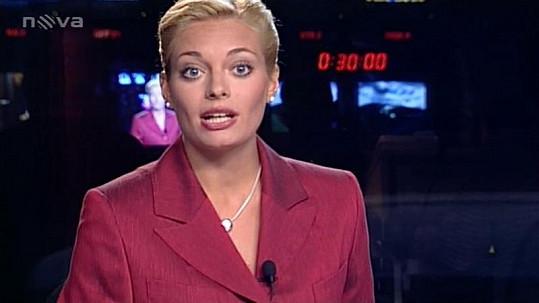 Lucie Borhyová ve svých profesních začátcích.