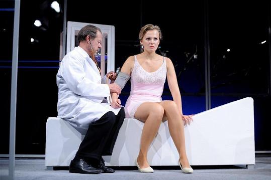 Míša se svým divadelním partnerem Oldřichem Víznerem.