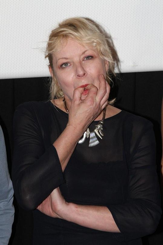 Vilma Cibulková v sále pískala na prsty.