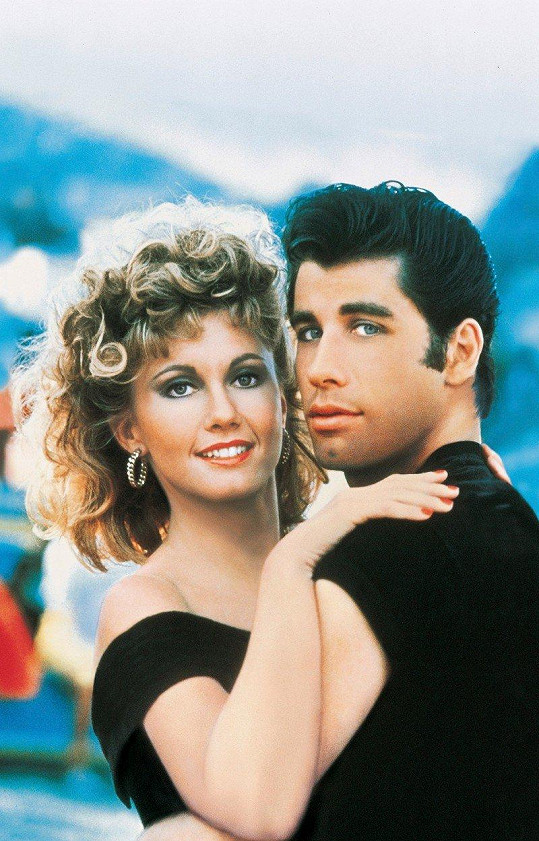 Olivia Newton-John a John Travolta v muzikálu Pomáda (1978)