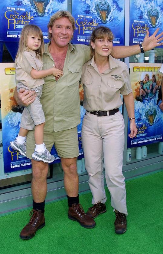 Její otec Steve, slavný lovec krokodýlů, zemřel, když bylo Bindi osm let.