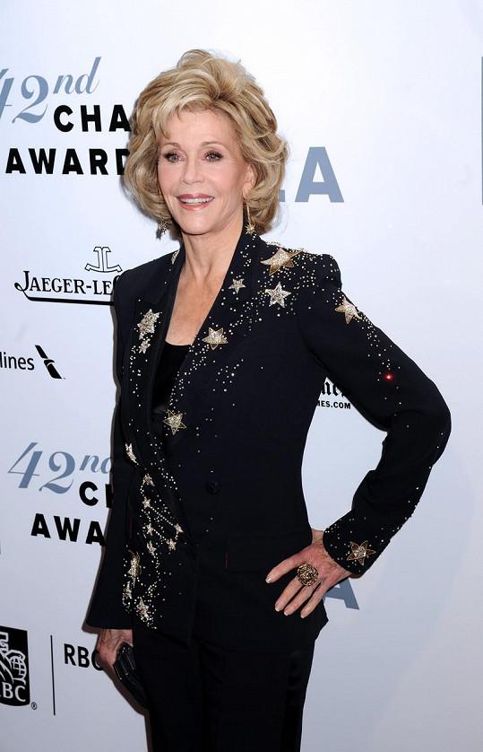 Svěže působící Fonda nepřestává udivovat fanoušky ani Hollywood.