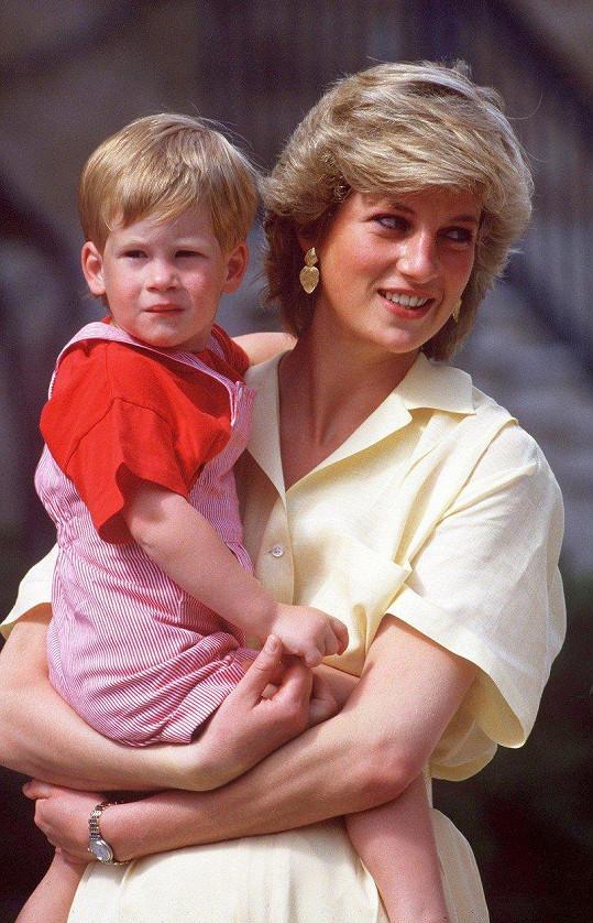 S matkou, princeznou Dianou, v roce 1987