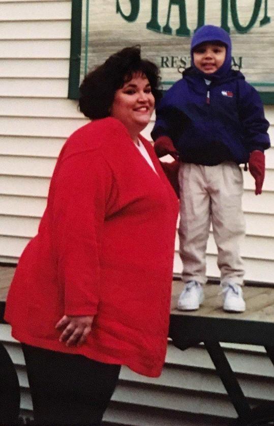 Obezita jí byla překážkou i při výchově syna.