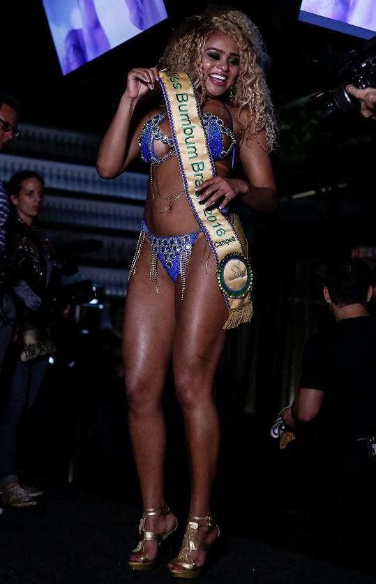 Erika v soutěži o nejkrásnější zadeček zvítězila.