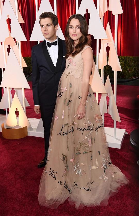 Keira s manželem na únorovém udílení Oscarů