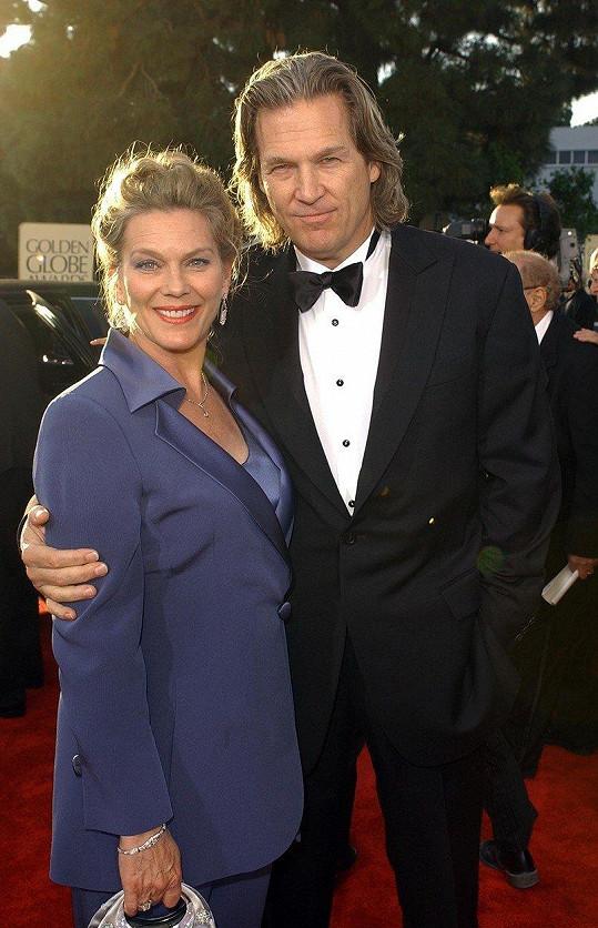 Jeff a Susan v roce 2004 na udílení Zlatých glóbů