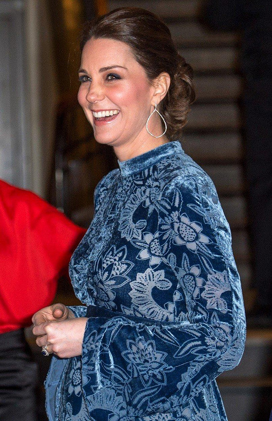 Kate byla v dobré náladě.