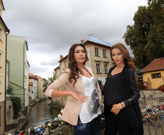 Tereza natáčela klip s další finalistkou České Miss Zuzkou Juračkovou.