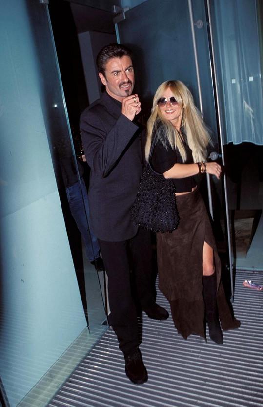 Geri a George Michael v roce 2000