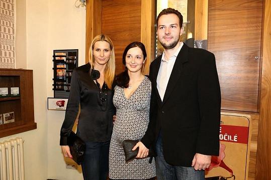 Ivana Gottová s bratrem Pavlem a švagrovou.