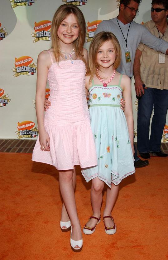 Sestry v roce 2007 na dětských cenách kanálu Nickelodeon