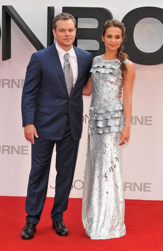 Ve filmu Jason Bourne si Matt zahrál s Alicií Vikander.