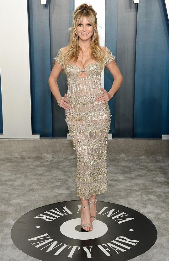 Heidi Klum je šťastná a spokojená sama se sebou.