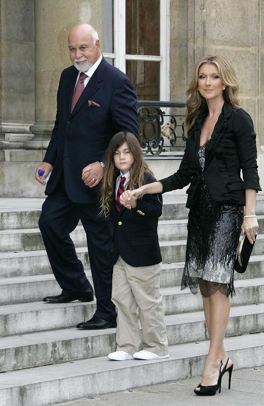 Céline s manželem Reném a jejich synem