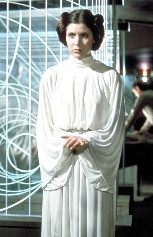 Jako princezna Leia v prvním díle Star Wars