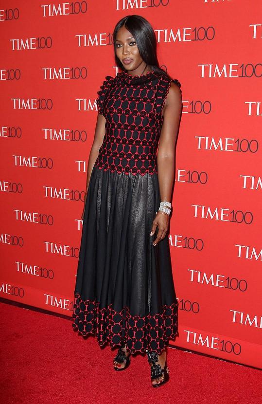 Akce se zúčastnila i britská topmodelka, herečka, zpěvačka a spisovatelka Naomi Campbell (46).