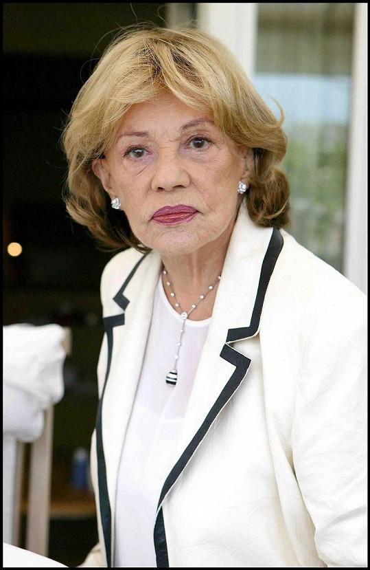 Jeanne Moreau jako zralá dáma (2005)