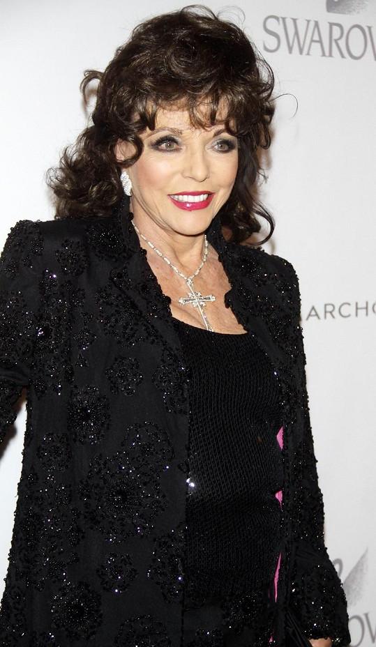 Joan Collins se proslavila seriálem Dynastie.