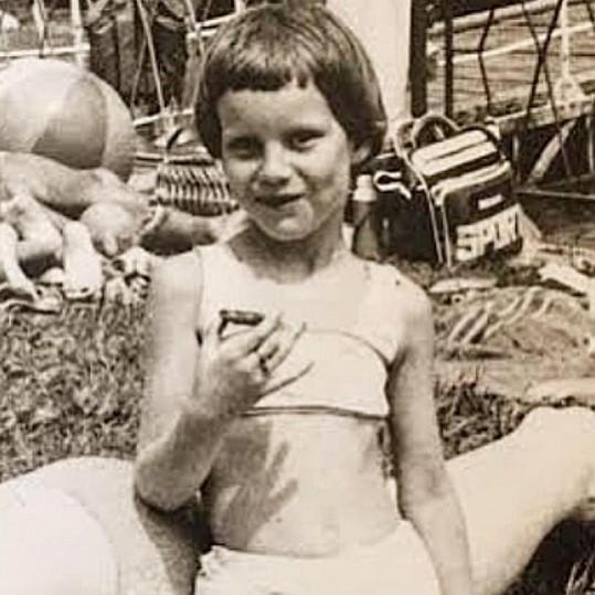Simona Krainová jako holčička.