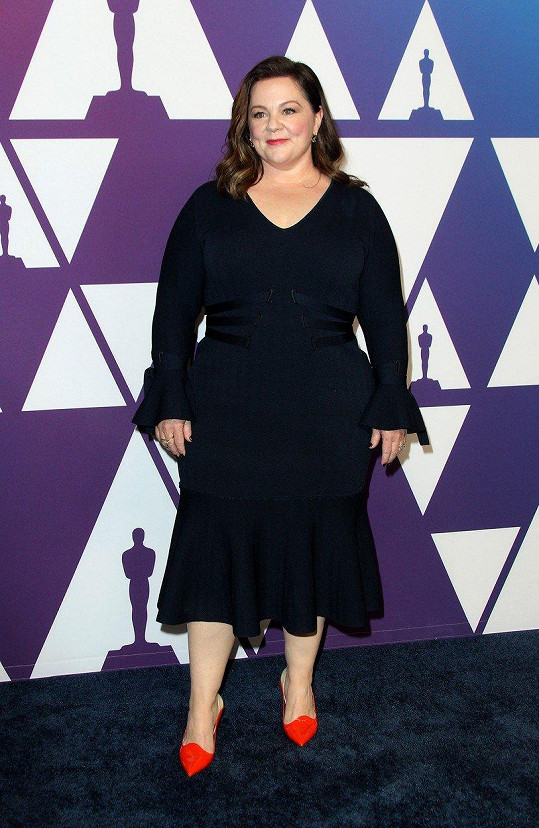 Melissa na akci, kam byli pozvaní umělci nominováni na Oscary