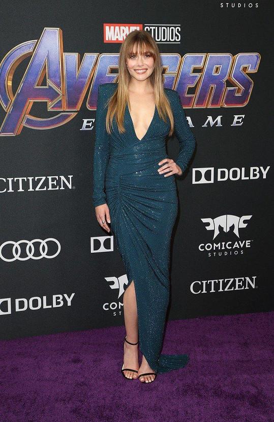 Elizabeth Olsen na premiéře svého zatím posledního filmu Avengers: Endgame