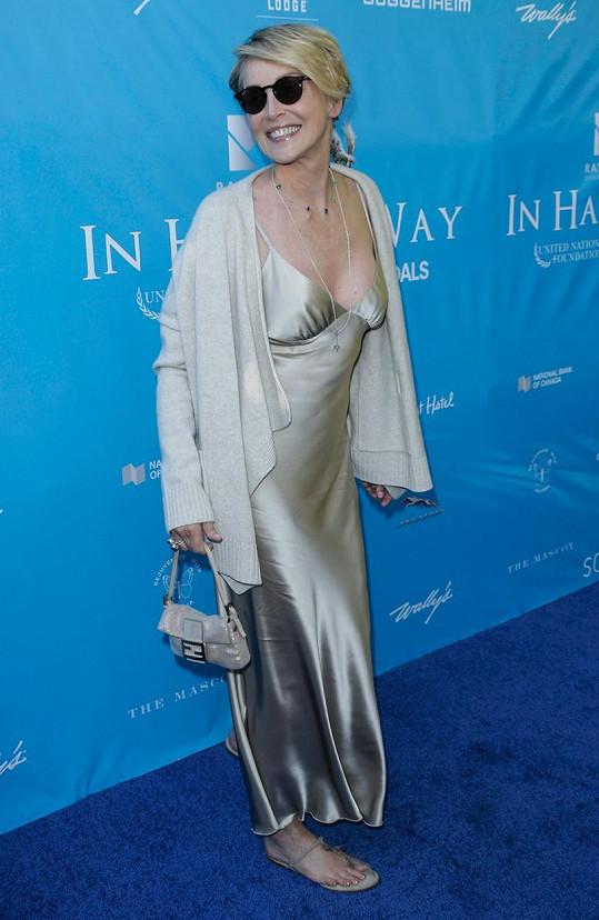 Sharon Stone na galavečeři generálního tajemníka OSN v Los Angeles.
