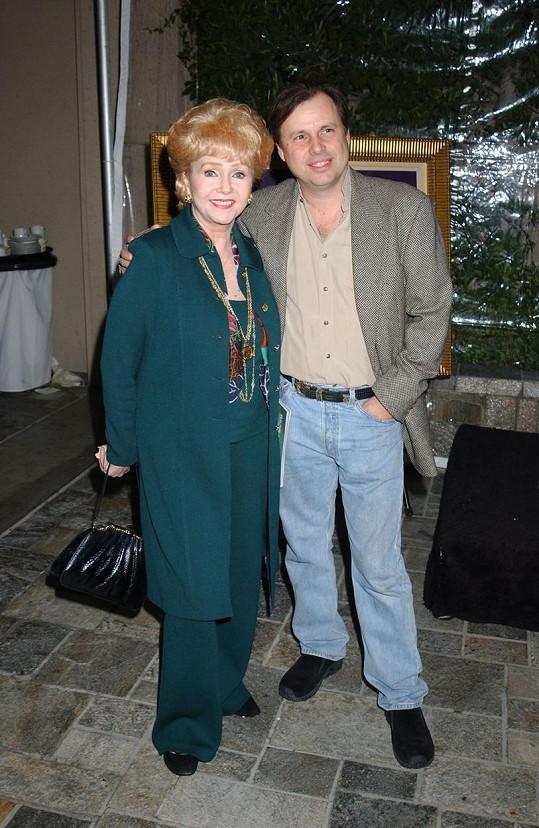 Reynolds se synem Toddem Fisherem