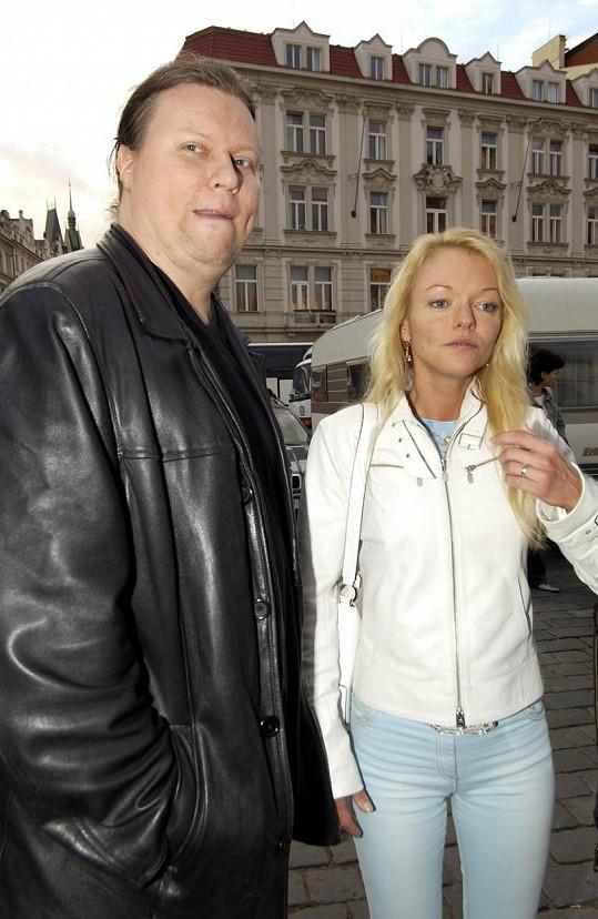Dominika Gottová s manželem Timem Tolkkim na archivní fotce