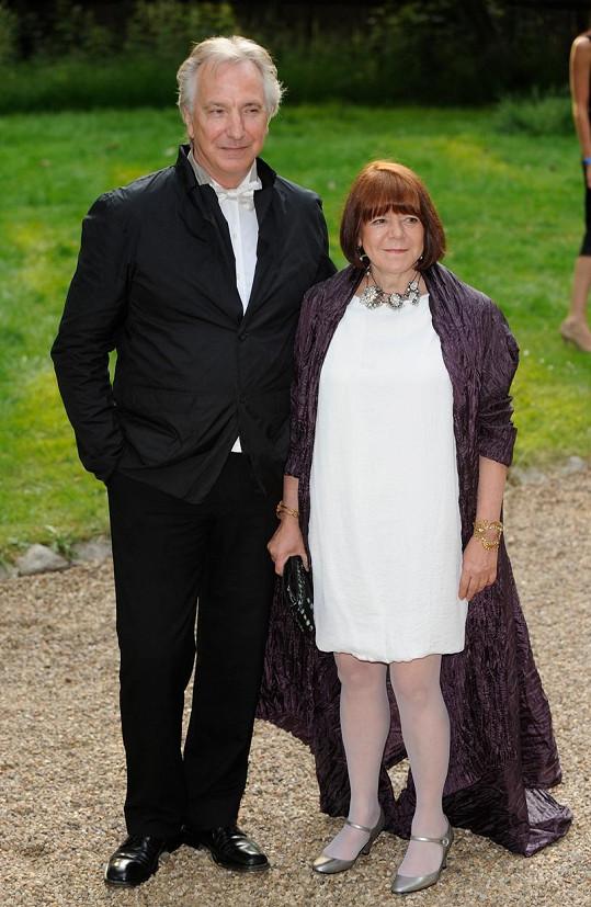 Alan Rickman se do Rimy Horton zamiloval už v roce 1965.