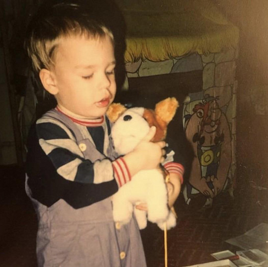 Jako malý byl Ondřej blonďáček.