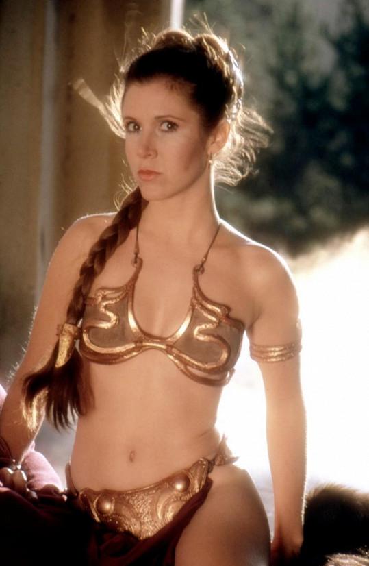 Ve filmu Star Wars: Epizoda VI - Návrat Jediho se předvedla ve zlatých bikinách.