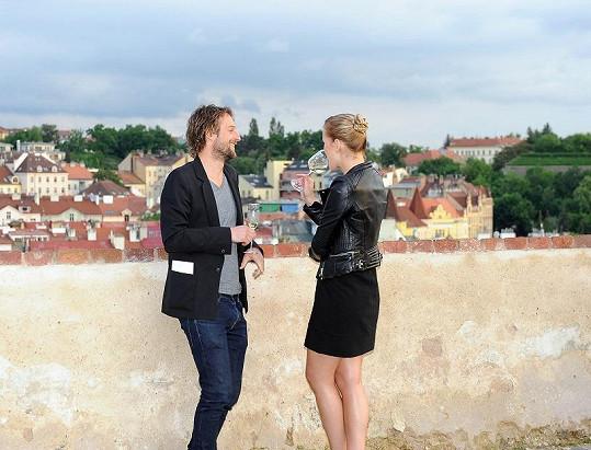 Linda s přítelem Slávkem