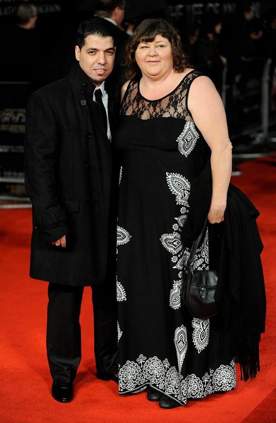 Cheryl Fergison s manželem Yassinem Al-Jerminim