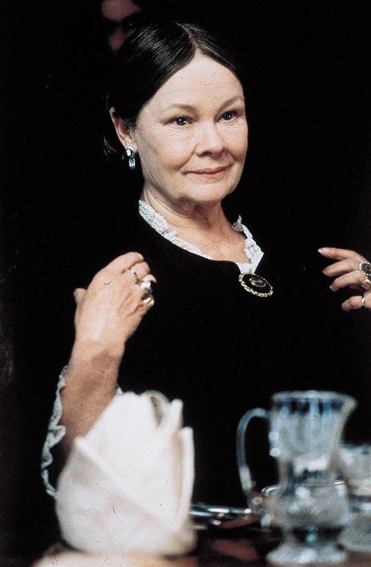 Paní Brownová. Role královny Viktorie jí vynesla Zlatý glóbus.