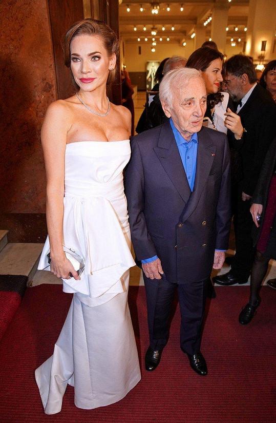 Andrea Verešová měla tu čest se s francouzským umělcem Charlesem Aznavourem setkat.