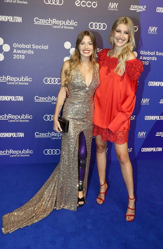Paola Antonini s Jitkou Nováčkovou na Global Social Awards