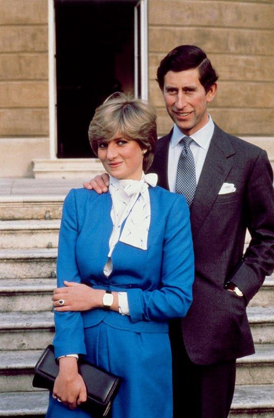 Lady Diana a princ Charles v roce 1981, kdy se zasnoubili.
