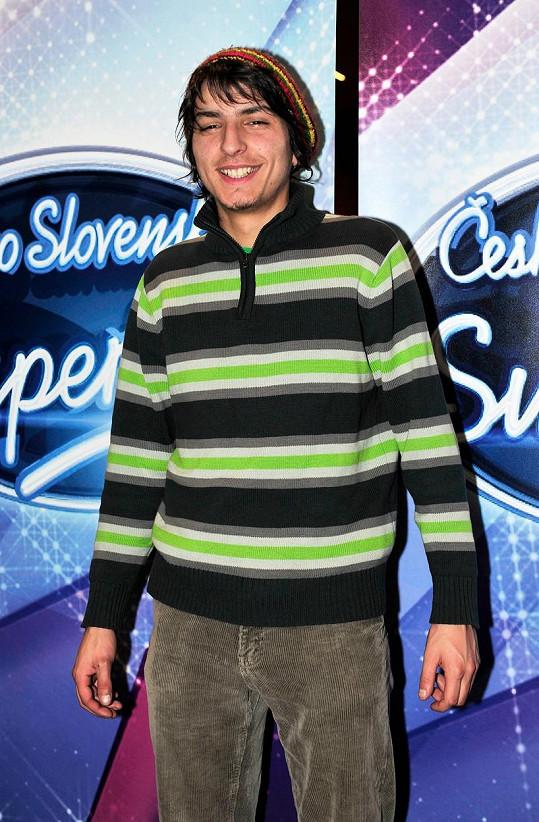 Michal Šeps v době, kdy válel v SuperStar.