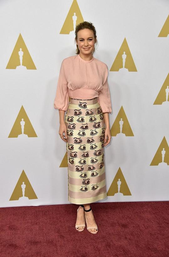 Brie Larson je díky filmu Room oskarovou favoritkou.