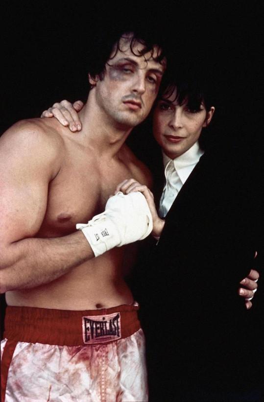 Snímek z filmu Rocky, ve kterém si Sylvester Stallone a Talia Shire zahráli manžele.