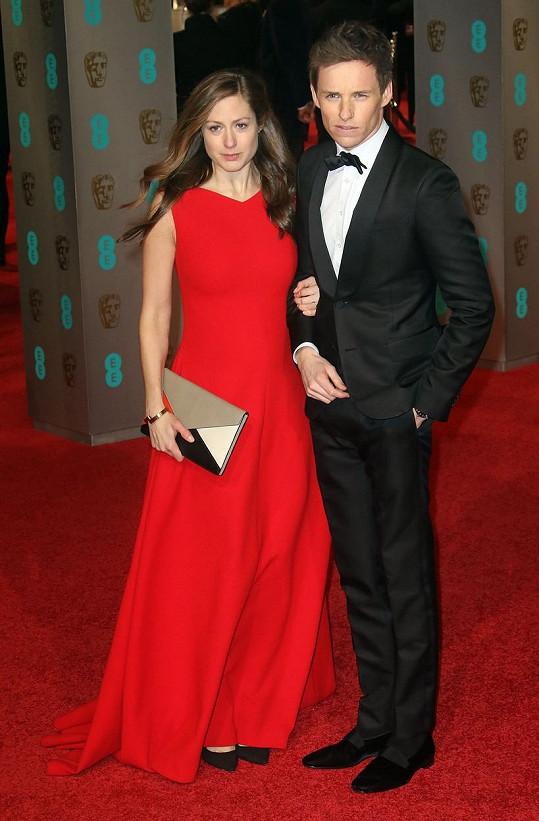 Eddie Redmayne s těhotnou manželkou Hannah Baghshawe
