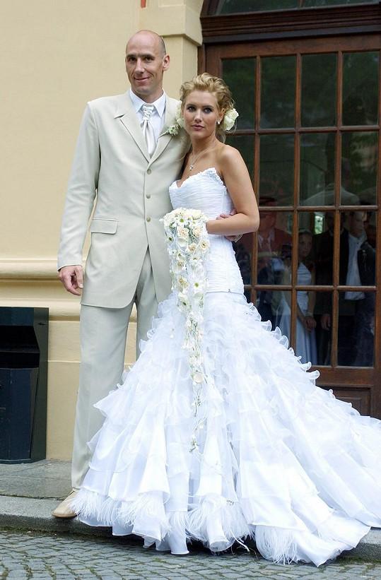 Hedviku si Jan Koller vzal v roce 2004. Nevydrželo jim to.