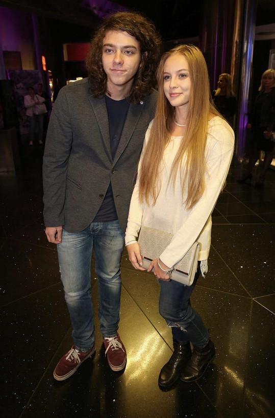 Lucián Blažek s přítelkyní